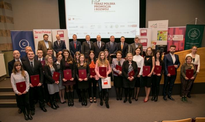 Laureaci nagrodzeni w XI edycji konkursu Teraz Polska Promocja i Rozwój na najlepszą pracę magisterską.